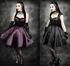 Black Gothic Noble Dovetail Dress - Devilnight.co.uk | dressup ...