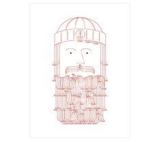 BEARDED.  #MarcPe. Impresión digital sobre papel texturado Hahnemüle, firmada y seriada, 40x30cm. 30€ #print #dibujovectorial #vectordrawing #ilustration #ilustracion #Barcelona #Art