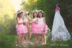 Gulfport Mississippi, Mini Sessions, Girl Photography, Fairy Tales, Pony, Unicorn, Tulle, Flower Girl Dresses, Wedding Dresses