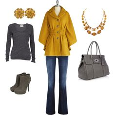 Gold Casual Friday Jeans Outfit...seriously, I am in love with the mustard yellow this season!