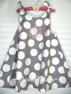 Check out my aunt's blog and store! She is super talented. This is a dress she made for my daughter.   www.bessiemary.com/