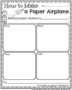 August Informative Writing Prompts - How to Make a Paper Airplane.
