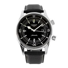 Longines Stainless Steel Legend Diver Mens Automatic Watch L3.674.4 - Watches | Portero Luxury