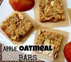 Fall Treat: Easy Apple Oatmeal Bars - Carrots N Cake Apple Oatmeal, Oatmeal Bars, Delicious Desserts, Dessert Recipes, Yummy Food, Apple Recipes, Fall Recipes, Apple Desserts, Oat Slice