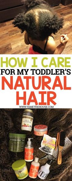 As a relaxed hair mom, I am still learning about what it takes to care for natural hair, especially for children. Here are a few products that I use to tame my toddler's natural hair.