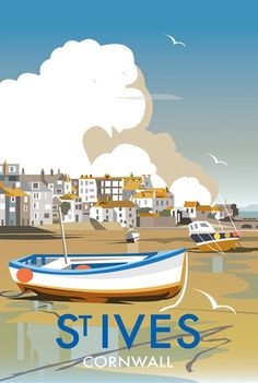 St Ives Harbour Print at Whistlefish Galleries - handpicked contemporary & traditional art that is high quality & affordable. Available online & in store