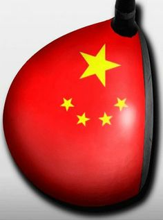 Personalized golf driver decal by Big Wigz Skins - China Flag.  Buy it @ ReadyGolf.com