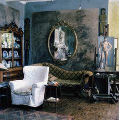 In het huis waarin de Bloomsbury Group samenkwam beschilderden en decoreerden…