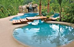Free-Form Pools | Blue Haven Pools ((foliage...but can we keep snakes out?))