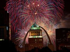 "The 1,371-acre Forest Park, site of the 1904 World's Fair, is the setting for ""America's Biggest Birthday Party"" for the third year running. Fair St. Louis will release 15,000 pounds of fireworks over three nights (July 2–4). Concerts and exhibitions over the course of the fest include performances by Lee Brice, George Clinton, and Flo Rida.Where to watch: Fireworks will be shot from the northwest quadrant of the park, north of Lagoon Drive. The best vantage point is Art Hill, the site of…"