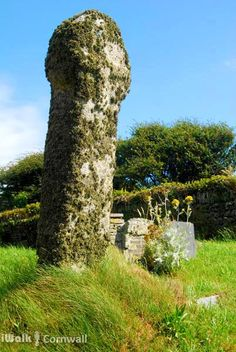 CROSS IN TREVALGA CHURCHYARD: ancient wayside cross in Trevalga churchyard, Cornwall, dating from the Dark Ages. ✫ღ⊰n