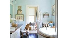 cottage style, blues and mints