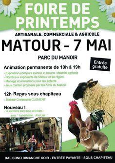 Foire de printemps le 7 mai 2017 à Matour : http://clun.yt/2qbmWlw