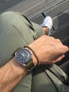 Omega Speedmaster (Moonwatch), Replay Cargo Trouser, Adidas Stan Smith