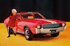 AMC made some of the coolest muscle cars of the and but they never get the same love as those from Ford, GM, and Chrysler. The two-seat AMX, a quasi-Corvette competitor, was easily the coolest. Amc Javelin, Jeep, Automobile, Best Muscle Cars, American Motors, Pony Car, Car Advertising, Us Cars, Motor Car