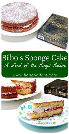Bilbo's Sponge Cake - A Lord of the Rings Recipe  www.fictionalfare.com  #lotr #hobbit #lordoftherings