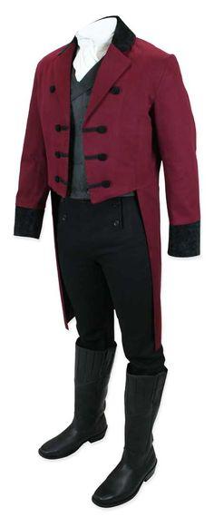 Sovereign Regency Tailcoat - Burgundy
