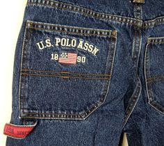 U.S. Polo Assn Boys Blue Jean Cargo Shorts Size 16  #USPoloAssn #Everyday