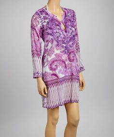 Take a look at this Purple Paisley Tunic - Women by Raj Imports on #zulily today!
