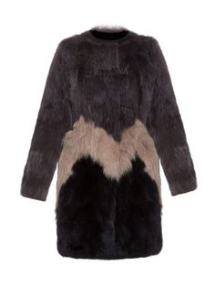 Yves Salomon Tri-Color Fox Fur Coat, $1,994; matchesfashion.com