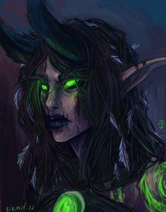 "birmit: ""My favorite character from world of warcraft Tebris,demon hunter ; Fantasy Rpg, Medieval Fantasy, Fantasy Artwork, Race Night, Night Elf, Dh Wow, Castiel, World Of Warcraft Characters, Female Demons"