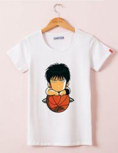 Q version Kaede Rukawa t shirt for girls from SLAM DUNK cartoon plus size tee- Inoue Takehiko, Plus Size Tees, Slam Dunk, T Shirts For Women, Cool Patterns, Mens Tops, Prince, Cartoon, Baby