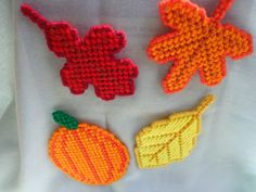 Fall Quartet Magnets by RhondasCanvasCrafts on Etsy, $8.00