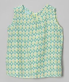 Look at this #zulilyfind! Aqua Geometric Shift Top - Toddler & Girls #zulilyfinds