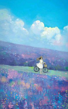 Pin by katelyn h on anime scenery Art Anime, Anime Art Girl, Manga Art, Fantasy Kunst, Fantasy Art, Art And Illustration, Pretty Art, Cute Art, Scenery Wallpaper