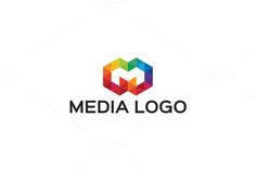 Media - Letter M Logo by Arslan on Creative Market Badge Template, Logo Design Template, Logo Templates, Letter M Logo, Letter Form, Music Festival Logos, Diamond Logo, Crest Logo, Logo Creation