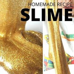 Have you ever wanted to touch liquid gold? Our gold slime is as close at it comes to the real thing. This easy gold slime is amazing glittery sensory play.