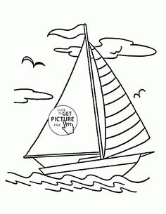 Sailing Boat Coloring Page For Kids Transportation Pages Printables Free