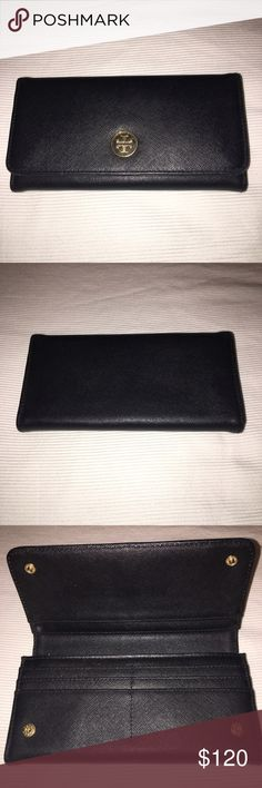 """Tory Burch wallet Tory Burch 8"""" long wallet. I bought from Posh but never used it. Leather is in good condition. Tory Burch Bags Wallets"""