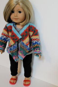 Inspired by 2013 Girl of the Year, Saige - cascade cardigan, leggings, and grey tank top. Made with Liberty Jane patterns!
