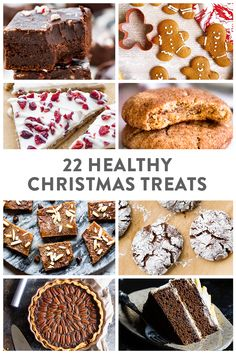 22 Healthy Christmas Treats and Holiday Pantry List When it comes to the holidays, we're all looking for something quick, delicious and healthy that we can feed our family and friends, and you Healthy Christmas Cookies, Healthy Christmas Recipes, Easy Christmas Treats, Paleo Recipes Easy, Holiday Baking, Christmas Desserts, Christmas Baking, Healthy Gingerbread Cookies, Christmas Christmas