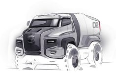 Concept truck  by Swaroop Roy