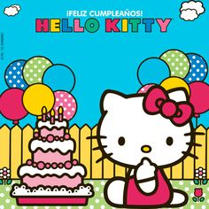 Happy Birthday Wishes Sister, Birthday Wishes Funny, Happy Birthday Gifts, Happy Birthday Gif Images, Happy Birthday Wallpaper, Hello Kitty Backgrounds, Hello Kitty Wallpaper, Hello Kitty Pictures, Happy Birthday Cake Topper