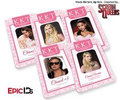 Scream Queens Inspired Kappa Kappa Kappa Tau Sorority ID 'Chanel' Collection Set - All Five! (Clean)