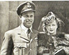 Guy Gibson VC with his wife, Eve - - RAF - Dambusters