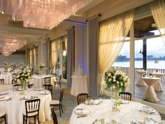 Sunset Ballroom wedding reception venue in San Diego at Paradise Point Resort & Spa. #WeddingVenues