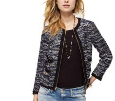 TWEED COLLARLESS JACKET #JuicyCouture