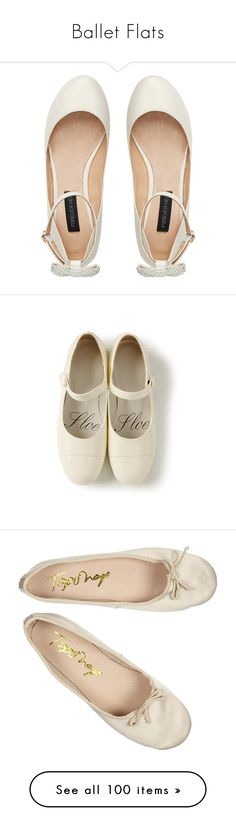 """""""Ballet Flats"""" by given-to-fly ❤ liked on Polyvore featuring shoes, flats, sapatos, footwear, embellished ballet flats, ankle strap ballet flats, leather shoes, bow flats, leather ballet shoes and zapatos"""