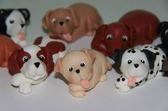 dogs, Polymer clay, porcelana fria, masa flexible, biscuit, pasta francesa, cold porcelain, fimo, salt dough