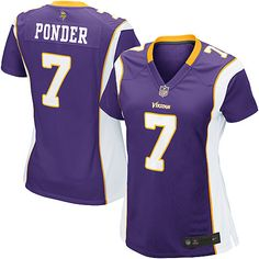 be6e6af13 NFL Jersey · shop the official Vikings store for a Women s Nike Minnesota  Vikings  7 Christian Ponder Game