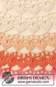 "Popsicle - Crochet DROPS poncho in ""Paris"". Size: S - XXXL. - Free pattern by DROPS Design"