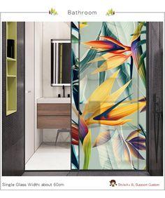 Window Glass Design, Stained Glass Window Film, Stained Glass Door, Sliding Glass Door, Sliding Doors, Frosted Glass Design, Frosted Glass Window, Glass Doors, Film Anti Uv