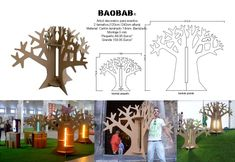 Cardboard tree in different sizes by Cartonlab. #cardboardtree #decoration