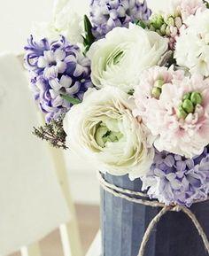 blanco y lila..