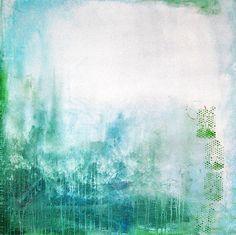 In den Nebel riesige Acryl ABSTRAKT Gemälde