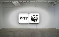 """""""#WTF"""" Installation Diptych lightbox, plexiglass 70x70x15 cm. info:ultraiabo@gmail.com"""